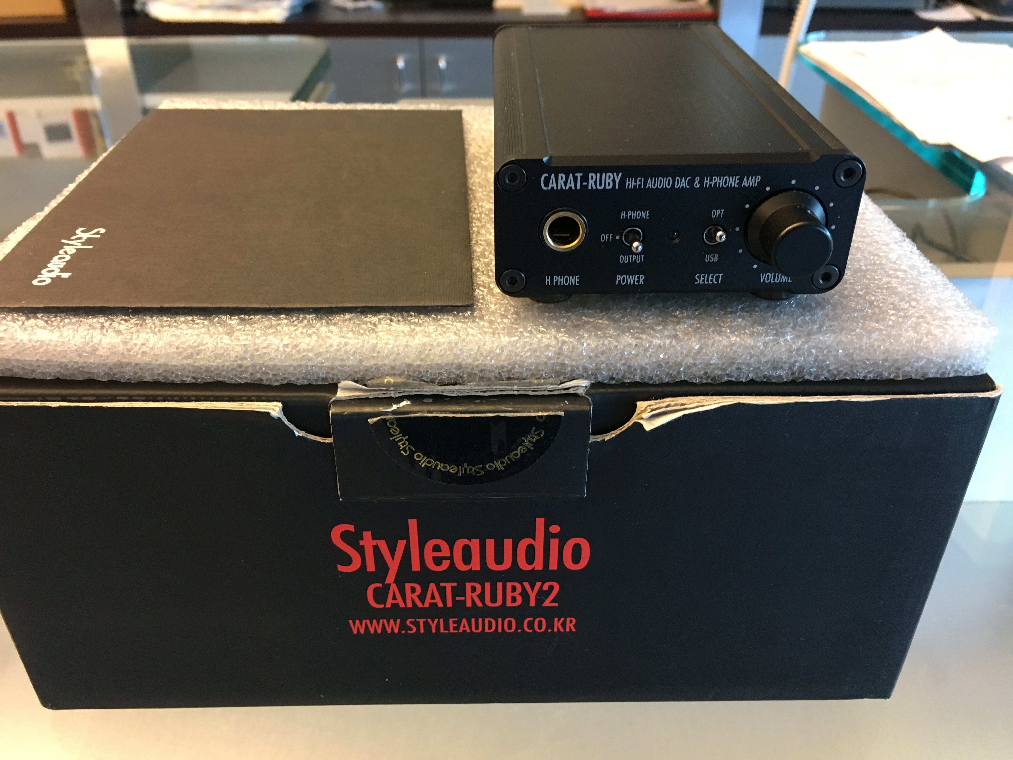 OCCASIONE AMPLIFICATORE CUFFIE +DAC HIFI STYLE AUDIO CARAT-RUBY 2